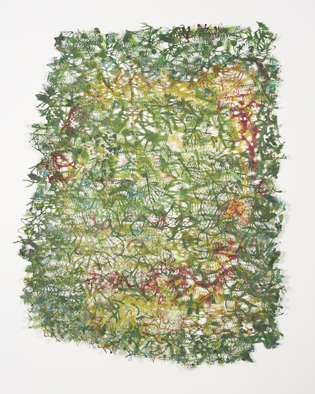 Claude Briand-Picard, Jardin 2010-2013 Fleurs artificielles 150 x 150 cm Photo Olivier Caijo CBP 136 100dpi
