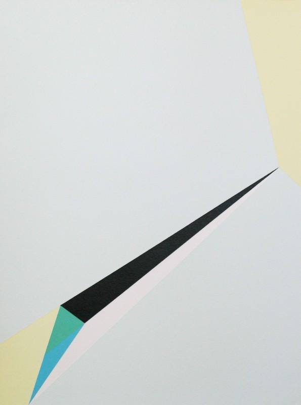 Sans titre, acrylique et laque blanche sur papier, 40x30 cm, 2014