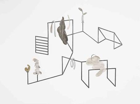 Mathilde Roussel Training Session, level 8, 2015, aquarelle et graphite sur papier, collage, 56,5 x 76 cm