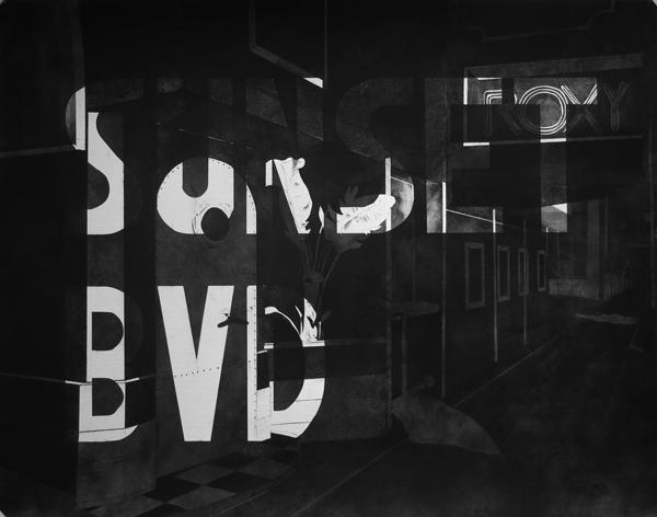 Maxime_Duveau-Sunset Bvd Roxy Theatre- 2015-fusain sur papier-50x65 cm