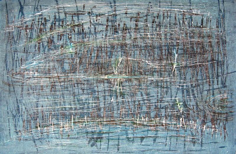 Chiman Dangi - Silent promise - gravure sur bois - 2008