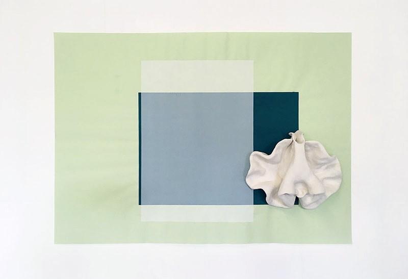Cécile Meynier Jonchée (série - 2017) sérigraphie, céramique grès dimensions 65 x 92 cm
