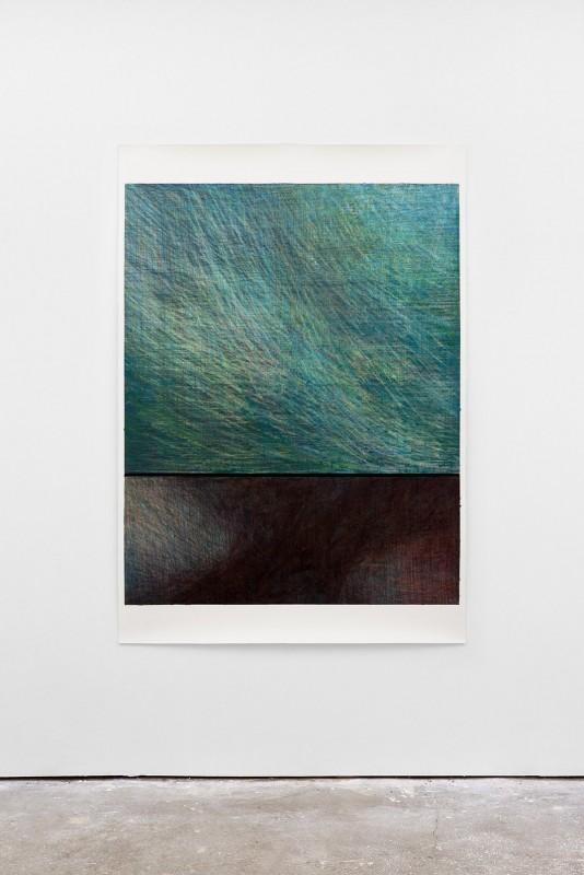 Composition, crayons de couleur et techniques mixtes sur papier - 105X150 - 2017