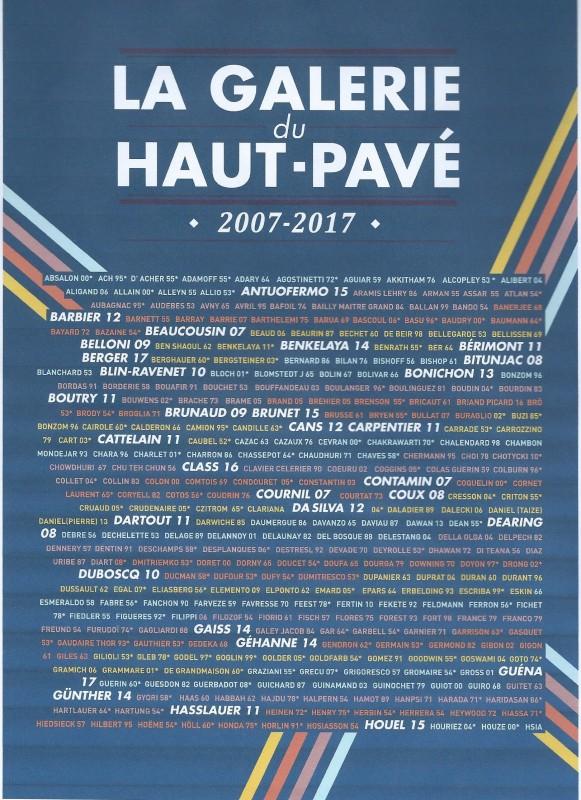 Galerie du Haut-Pavé page de couverture