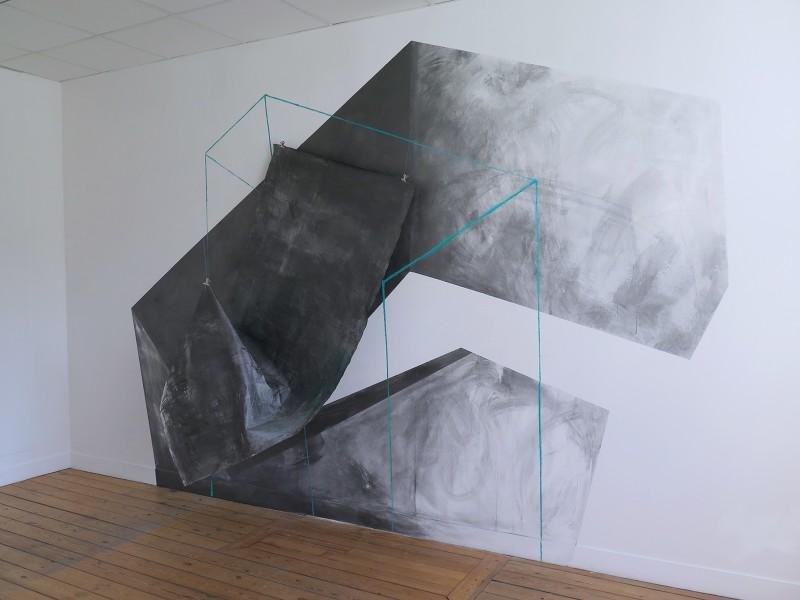 LE RADAR, espace ouvert - 1er étage - dessin mural sur 2 étages - 3,4 x 2,5 m - avril 2017