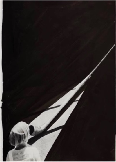 Benjamin Swaim Une enfant 2-4 (détail), 2013 Encre de Chine sur papier imprimé - 28 x 43 cm